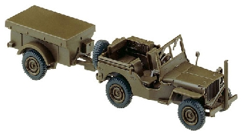 Roco 444 Willys Jeep + M100