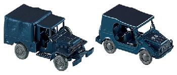 Roco 714 Munga + Dodge Bereitschaftsp